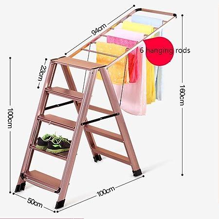 Yongjing-Tendedero Ropa De Pie Tendedero Puede Ser Utilizado como Una Escalera Ropa Secador De Bastidor De Aluminio De Aleación De Prendas De Vestir Ropa Tendedero De Ropa Multifunción Ropa Tendedero: Amazon.es: Hogar