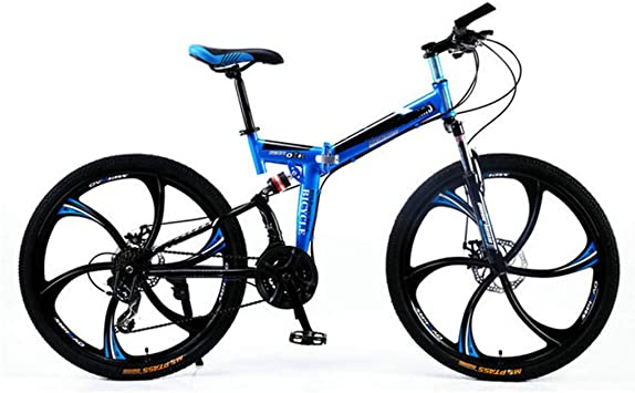PHY Bicicleta de montaña Plegable Adulto Bici de Doble suspensión ...