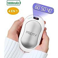 MROTY Chauffe -Mains Rechargeable USB, 10000mAh Chauffe Mains de Proche Electrique, Utilisé comme Batterie Externe/Massage/Lampe de Proche, Parfait comme Cadeaux d'hiver