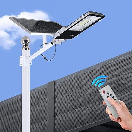 Ultra Potente Farolas Solares Exterior,Impermeable IP65 LED Luz Solar 60W/120W/300W/400W,con Soporte Ajustable Y Control Remoto Solar Security Lights Para Calle,patio,jardín Etc. (1 Pack),300W: Amazon.es: Hogar