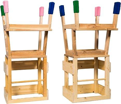 Torre de aprendizaje Learning Tower by deski Torre con 4 Fieltro Calcetines para los pies Torre – Aprendizaje Tower Learning Tower Cocina ayuda montessori verde verde: Amazon.es: Bebé