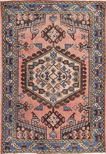 Rug Source Traditional Viss Hand Knotted Persian Wool Oriental 3x5 Vintage Area Rug Pink (5' 1