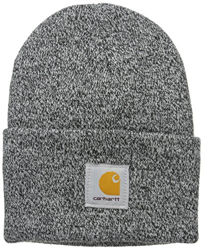 - Carhartt Men's Acrylic Watch Hat A18, Black/White, One Size