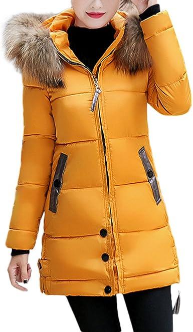 Theshy Damen Winterjacke Wintermantel Lange Daunenjacke Jacke Outwear Frauen Winter Warm Daunenmantel Schlank Mit Kapuze Unten Gepolsterte Lange Warme
