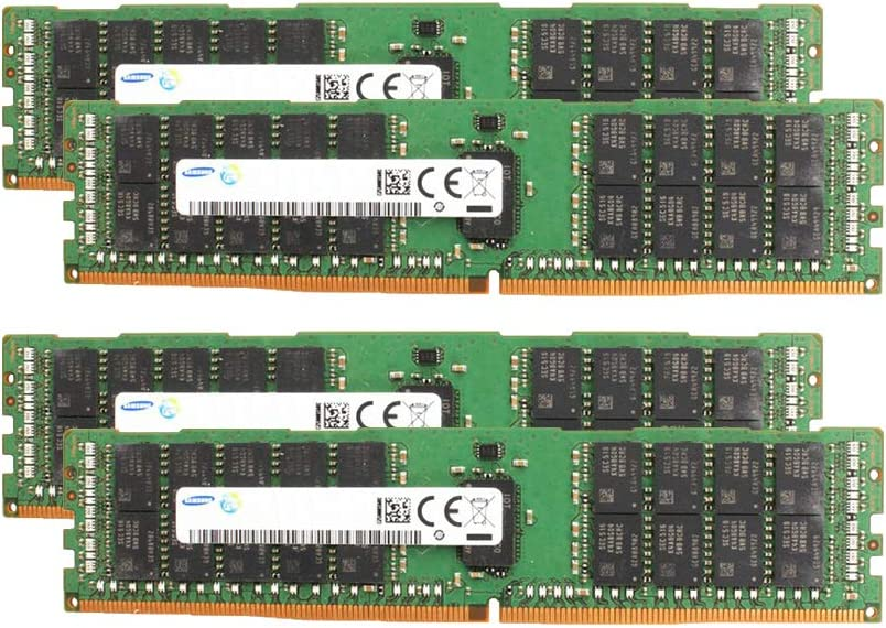 Samsung Memory Bundle with 128GB (4 x 32GB) DDR4 PC4-19200 2400MHz Memory Compatible with Dell PowerEdge R430, R630, R730, R730XD, T430, T630 Servers