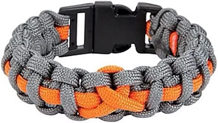 Amazon Com Orange Ribbon Awareness Unisex Bracelet Jewelry Ms Leukemia Kidney Cancer Jewelry