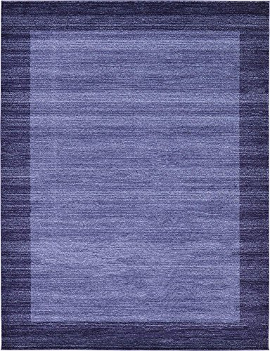 Unique Loom Del Mar Collection Contemporary Transitional Navy Blue Area Rug (9' 0 x 12' - Area Transitional Rug Blue