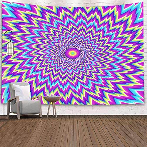 Jacrane Tapestry Wall Hanging with 60x80 Inches Christmas Iridescent Background Flower Motion Illusion Art Tapestries for Bedroom Living Room Home Decor Wall Hanging Tapestries (Motion Christmas Background)