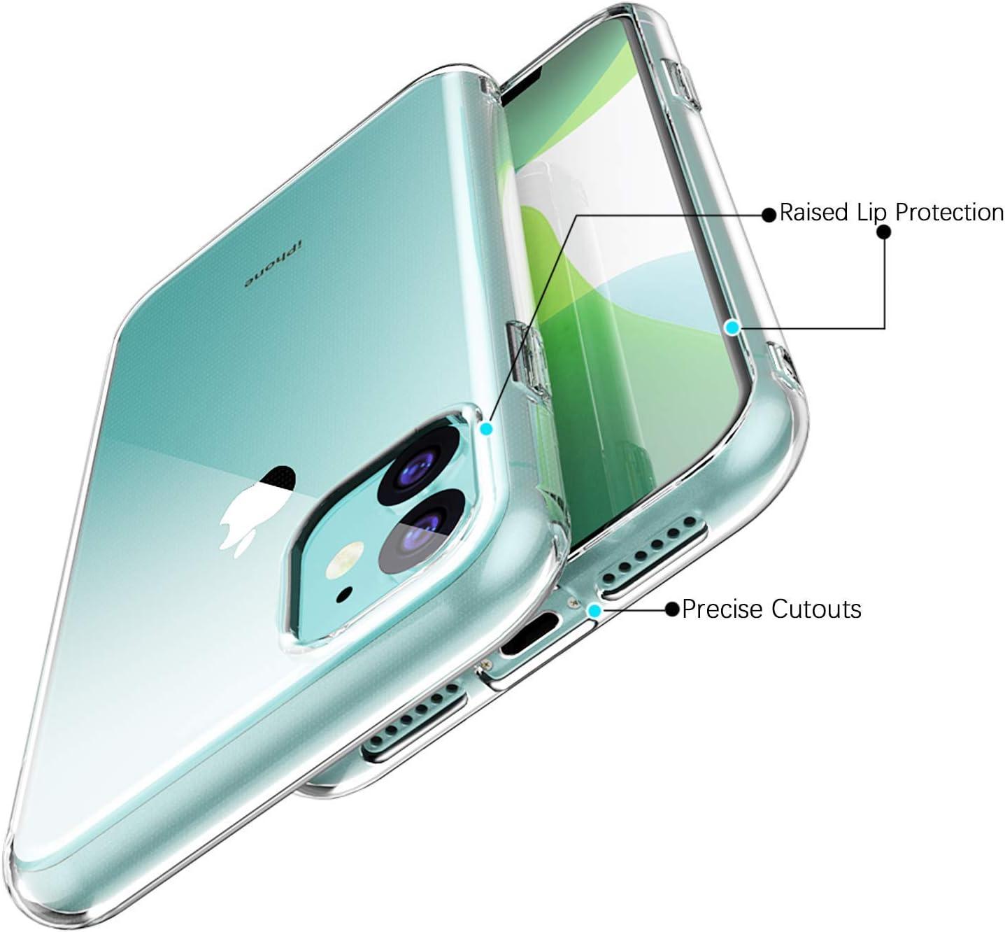 Enova - Carcasa para iPhone 11 Pro MAX (2 Unidades) de Gel TPU ...