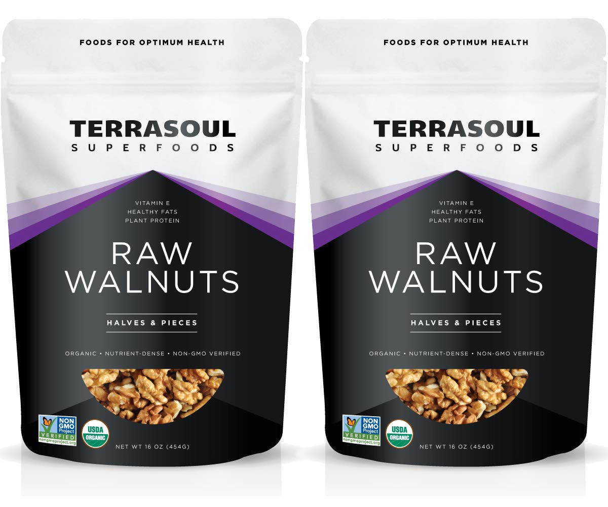 Terrasoul Superfoods Organic Raw Walnuts, 2 Lbs (2 Pack) - Chandler Variety | Fresh | Light Color by Terrasoul Superfoods