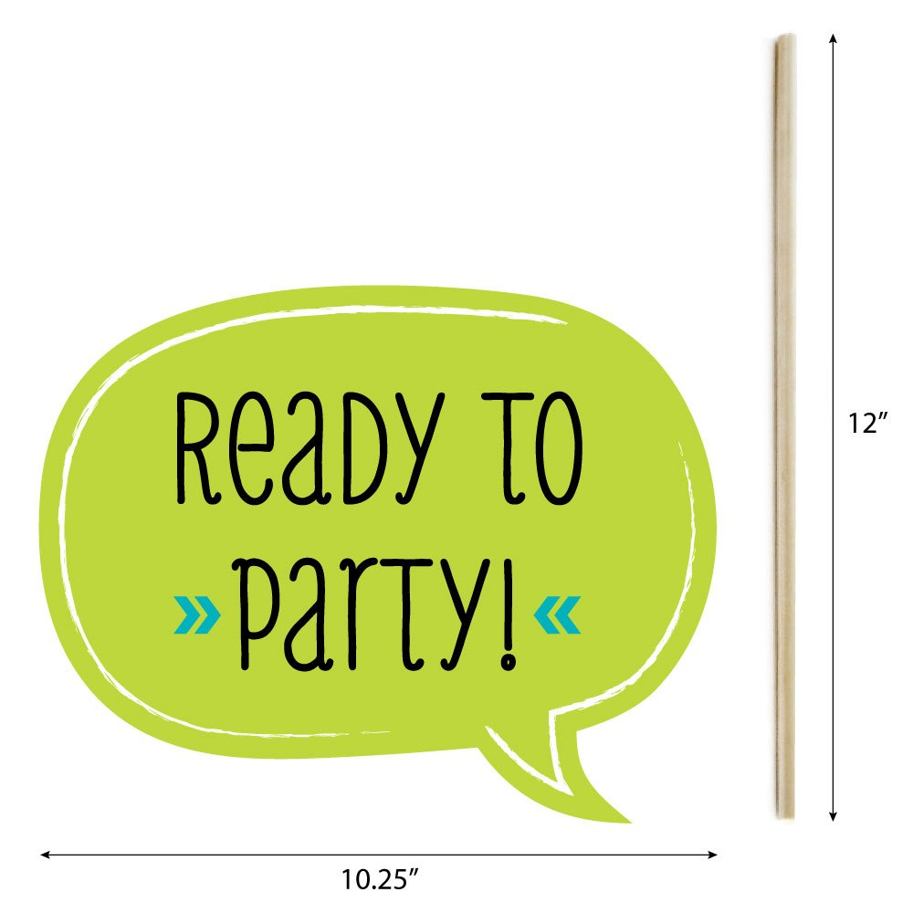 Big Dot of Happiness Ready to Party - Photo Booth Props for Kids - 20 Count by Big Dot of Happiness (Image #4)