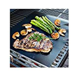 Image of CAILLU BBQ Grill Mat - large - 17 x 14 inches (Set of 2) - multipurpose can be used for baking and on ovens - reusable and non stick - can used on electric, charcoal and gas grill-easy clean up