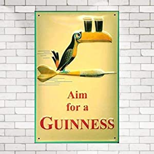 Anjoes Aim for A Guinness Retro Metal Sign 8X12 Wall Decor