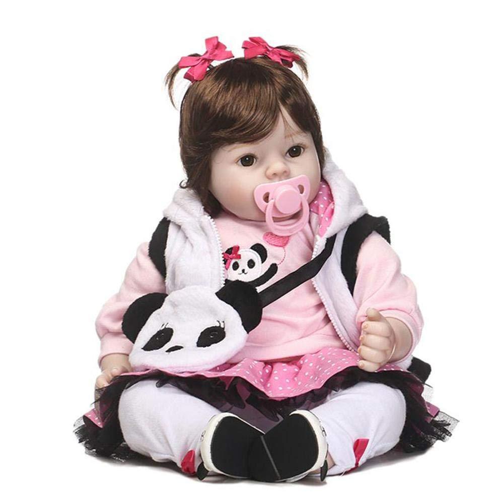 Bambola di simulazione bella Reborn per neonato, 50 cm, realistica, giocattolo per bambola, regalo di compleanno, rosa