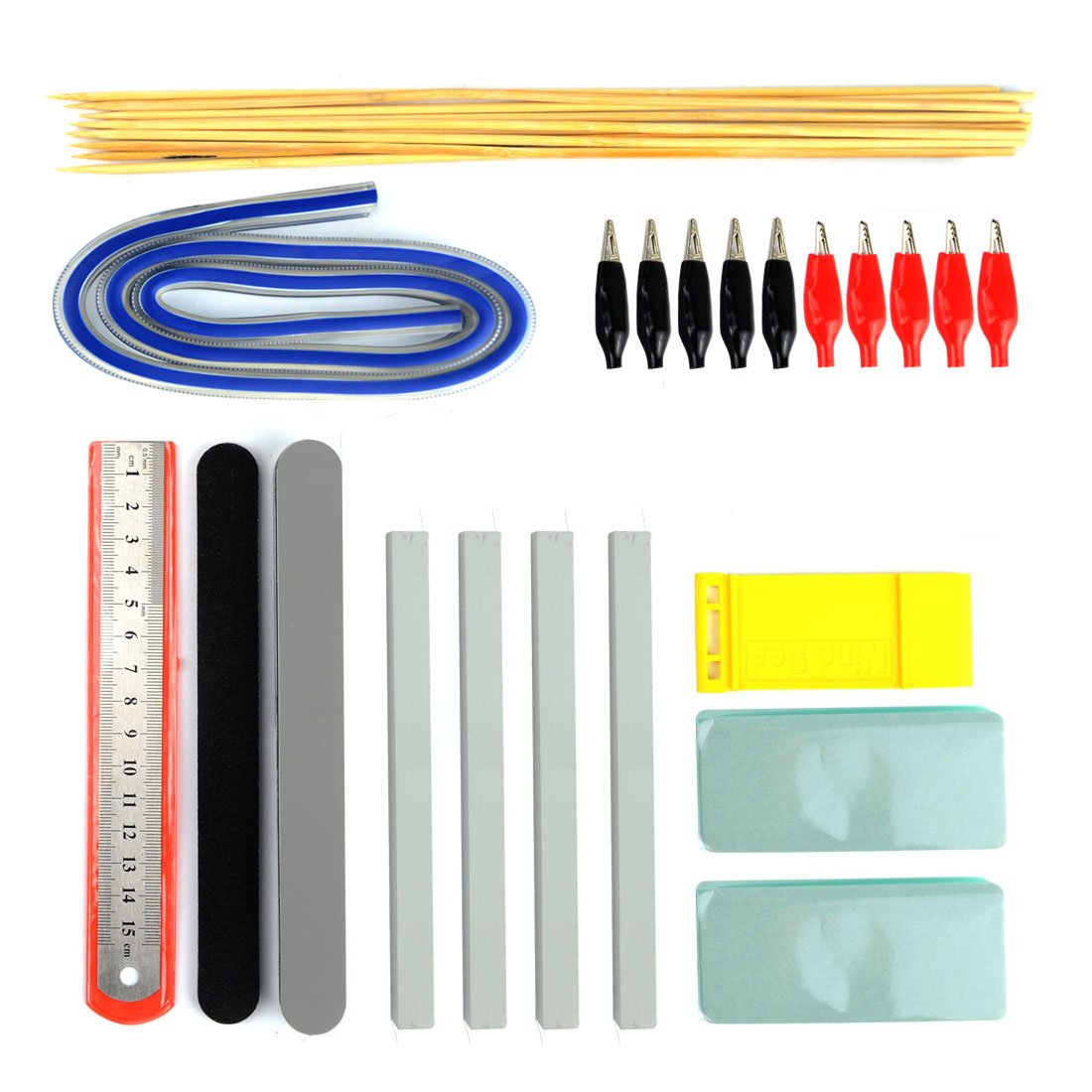BXQINLENX Professional 56 PCS Gundam Model Tools Kit Modeler Basic Tools Craft Set Hobby Building Tools Kit for Gundam Car Model Building Repairing and Fixing(H) by BXQINLENX (Image #3)