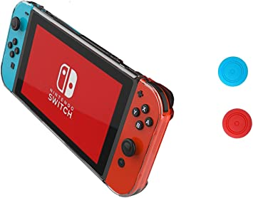 Nintendo Switch Case - Chickwin Antideslizante Transparente Duro ...