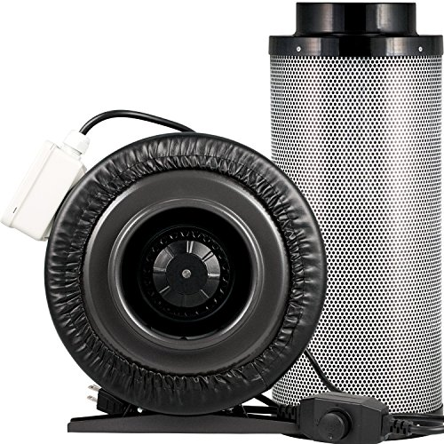 - Yield Lab 6 Inch 440 CFM Charcoal Filter and Duct Fan Combo Kit