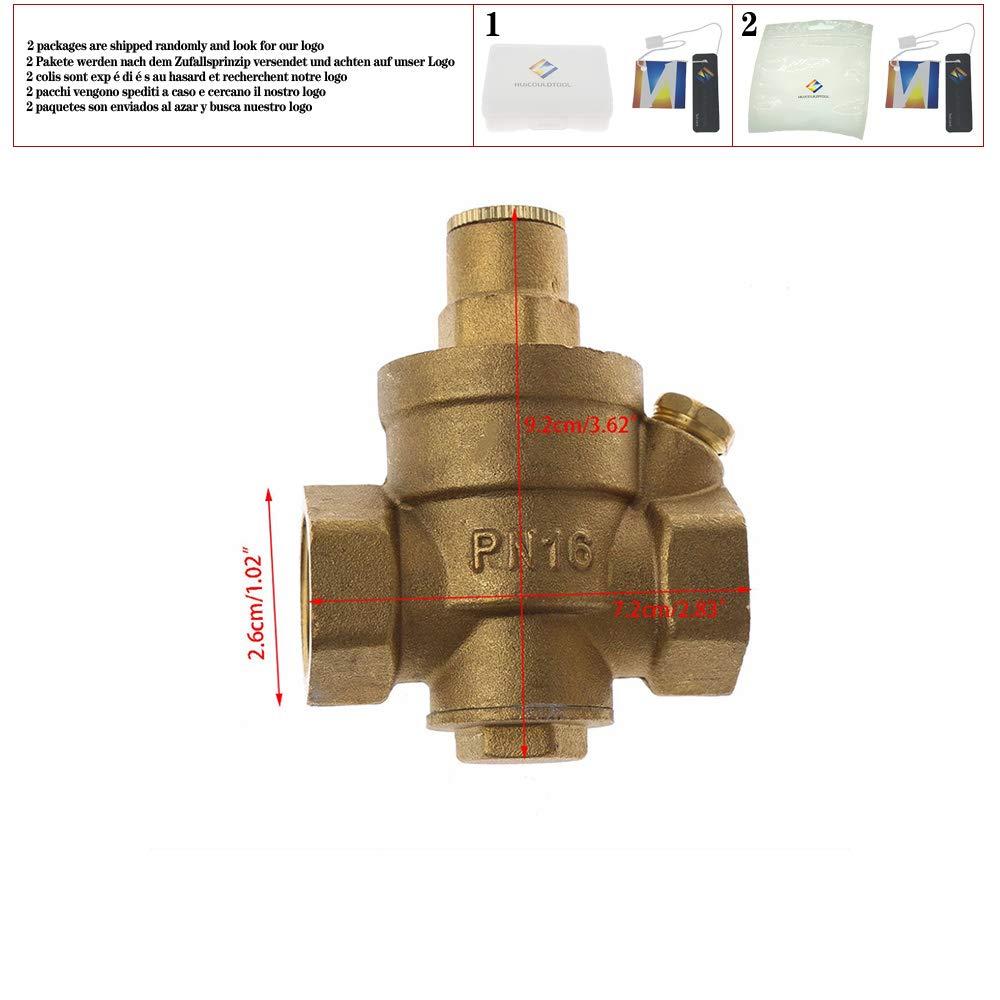 DN15//DN20//DN25 Adjustable Brass Water Pressure Reducing Regulator Valve PN 1.6,DN15