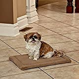 Sofa-Style Quilted Pillow Pet Bed Mattress Frame, Taupe Micro Dog Pet Pad Couch Pillow Bed For Pet Dogs & E-Book