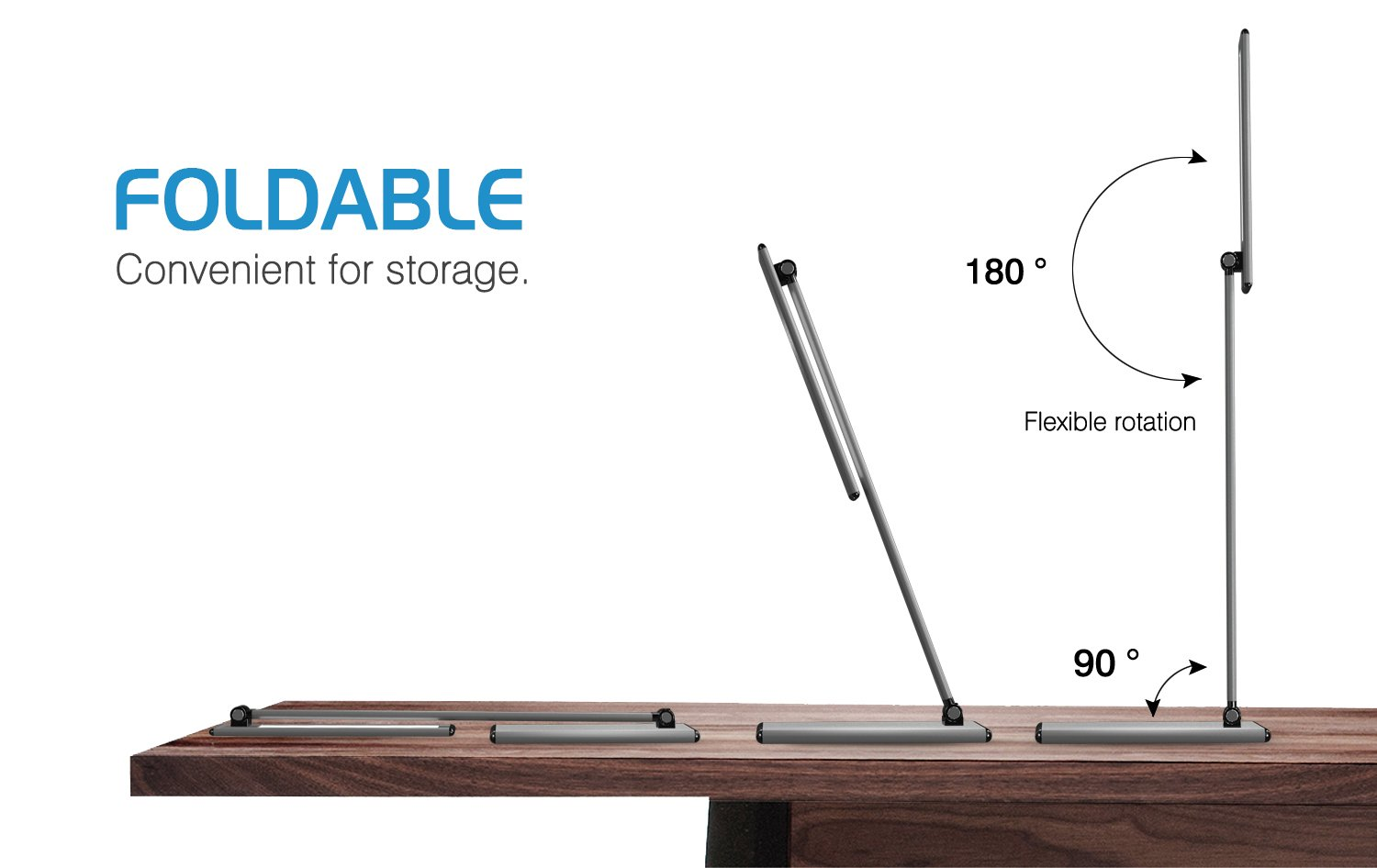 MoKo LED Desk Lamp, 8W Eye-Care Smart Touch Control Table Lamps with Rugged Aluminum Alloy Body, Stepless Adjusted Color Temperature/Brightness Level, Rotatable Arm/Head, Memory Function - Dark Gray by MoKo (Image #7)