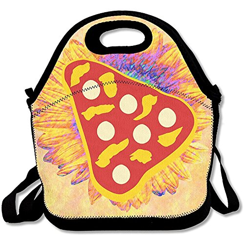 Starindian Pizza Pie Slice Lunch Bag Tote Handbag Lunchbox Food Container Tote Cooler Warm Pouch For School Work Office