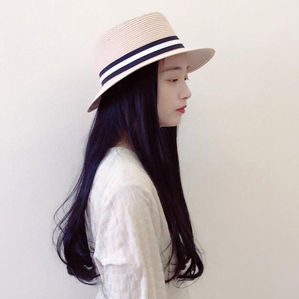 Sunny Honey Cappelli di Paglia Maschili E Femminili Paglia A Tesa Larga  Bombetta Cappello Estivo Cappello Panama (Colore   Rosa)  Amazon.it   Giardino e ... e3adfb7595f0