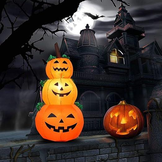 Halloween Aufblasbare Deko Led Leuchtend Mit Fan Geist Kurbis Skelett Dekoration Gruselig Fur Halloweenparty Karneval Aprilscherz 3 X Kurbis Amazon De Kuche Haushalt