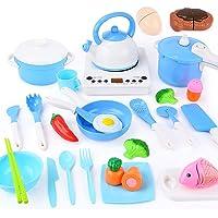 Sotodik 29 st låtsas kök matlagning leksaker set simulerad induktionsspis, krukor, stekpannor, redskap, köksredskap…