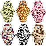 Love My Antibacterial Bamboo fiber Mama Cloth/ Menstrual Pads/ Reusable/ Panty Liners - 6pcs pack(LM1)