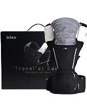 Bebamour SIX-Position Baby Carrier Ergonomic Baby & Child Carrier for All Seasons,Alphax New Design (Black)