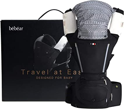 Baby Carrier Hip Seat 6 in 1 Baby Carrier Backpack 0-36 Months Color : Blue Convertible Baby Carrier