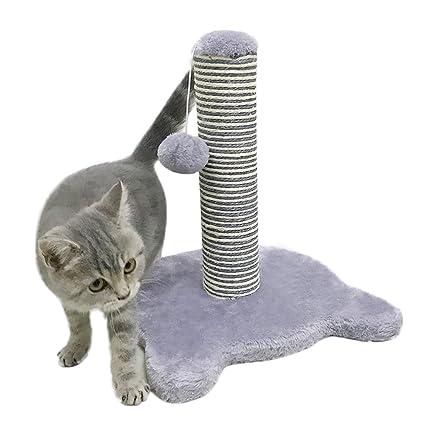 Petcomer Poste Rascador para Gato Árbol para Gato Juego para Gato (Morado Claro)