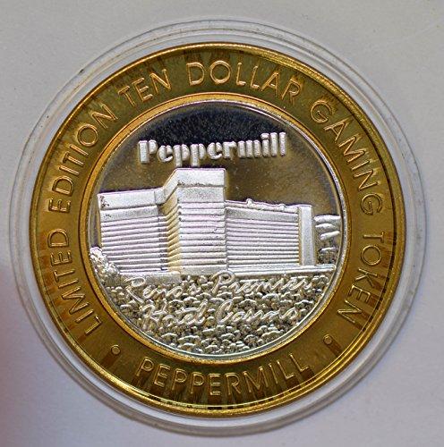 IE BU0333 US casino chip token peppermil nevada silver DE PO-01