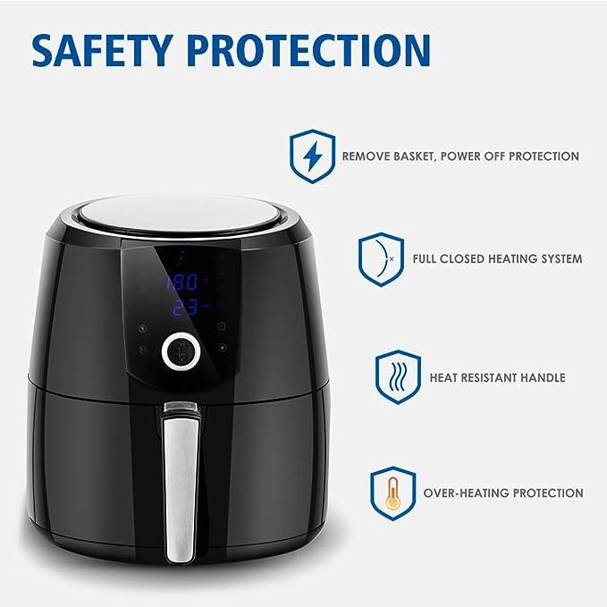 Amazon.com: Safeplus - Freidora de aire caliente eléctrica ...