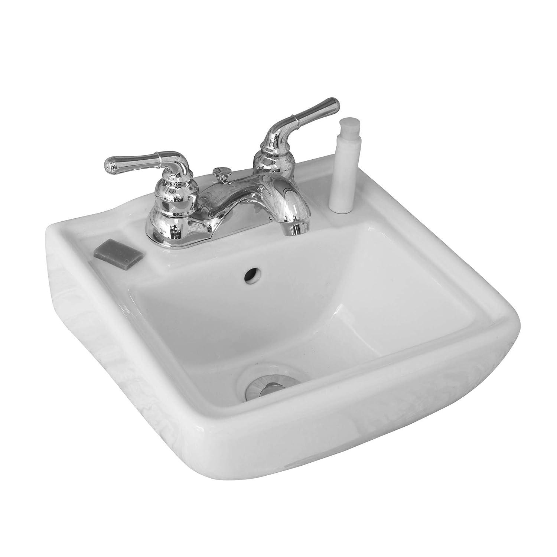 Small Wall Mount Bathroom Sink 12.4\