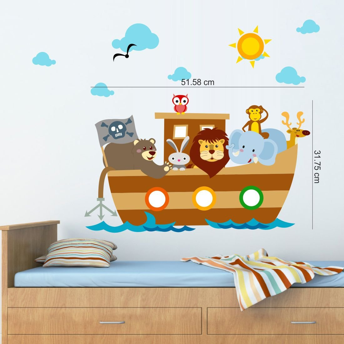 Buy asian paints wall ons noahs ark wall sticker pvc vinyl 001 buy asian paints wall ons noahs ark wall sticker pvc vinyl 001 cm x 3048 cm x 762 cm online at low prices in india amazon amipublicfo Gallery