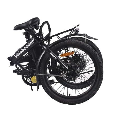 Velobecane bicicleta eléctrica Work negro: Amazon.es: Deportes y aire libre