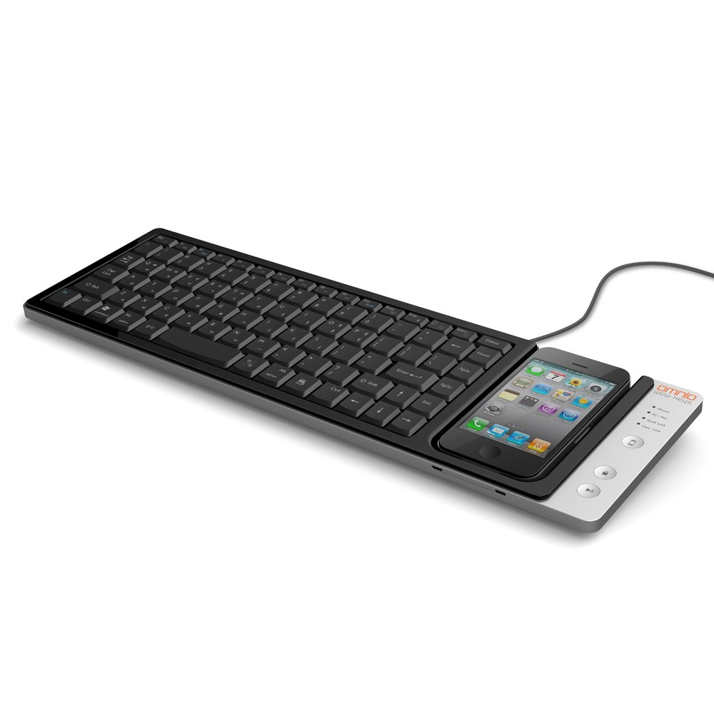 e4b3a80e426 Amazon.com: Omnio WOW-KEYS Full-sized, QWERTY PC or MAC Keyboard for iPhone  (000WOWKEYS): Electronics