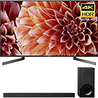 Sony XBR75X900F 75 4K HDR10 HLG Dolby Vision Triluminos UHD LCD Android TV with Google Assistant 3840x2160 & X1 Processor + Sony HTX9000F 2.1Ch 4K HDR Compatible Dolby Atmos Soundbar with Bluetooth