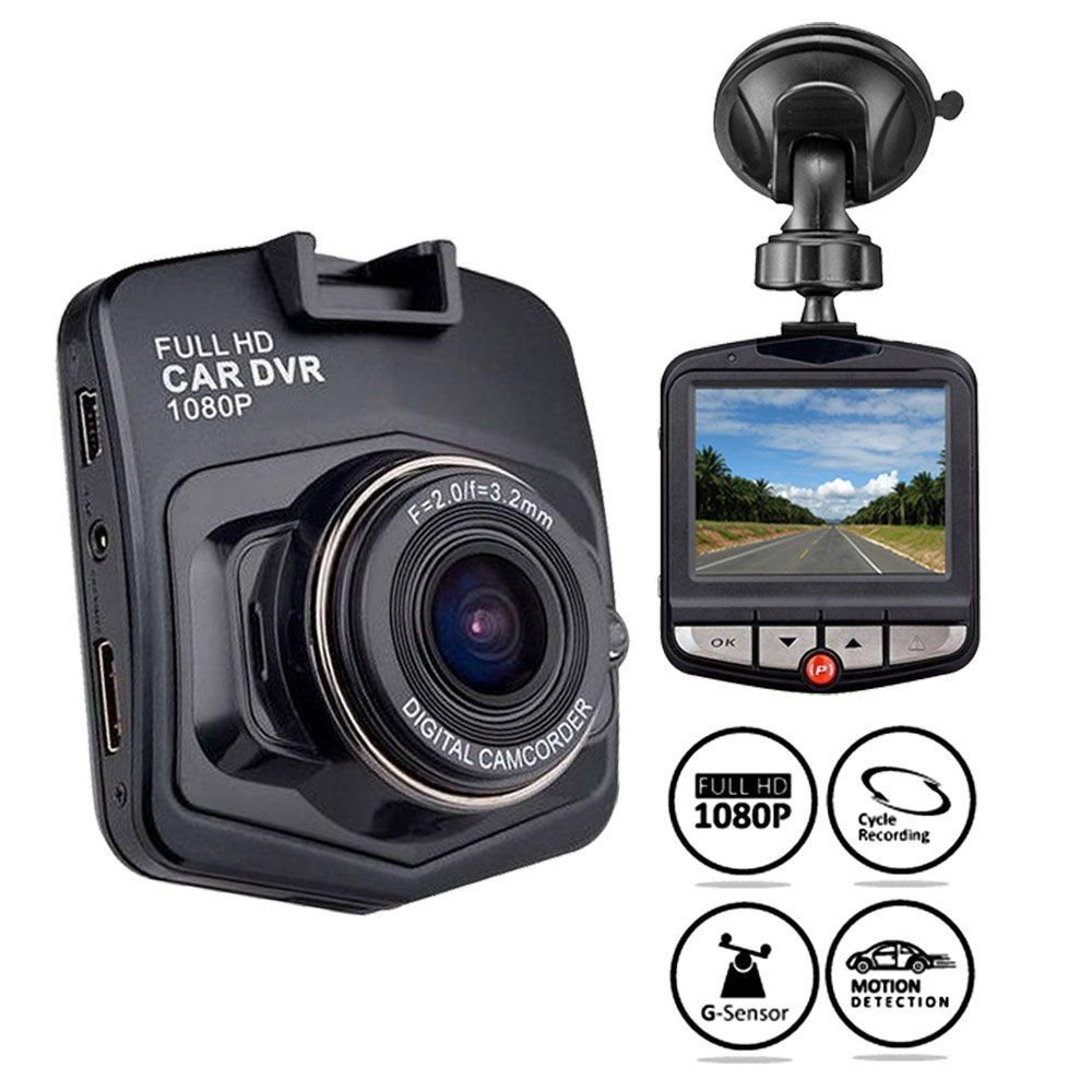 ICBEAMER 2.5'' Full-HD 1080P Fit All Vehicle DVR Interior Auto Video Recorder Proof to Police Dash Camera Pack of 1 Set