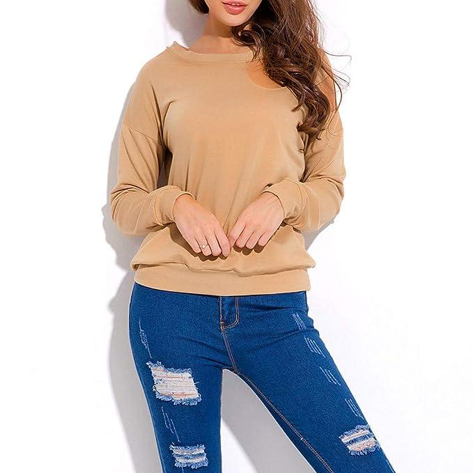 Top Camisetas Mujer, BBestseller Blusa de Verano Mujer Sexy del Hombro Tops Casuales Raya Blusas para Mujer Elegantes Camisas Mujer de Vestir: Amazon.es: ...