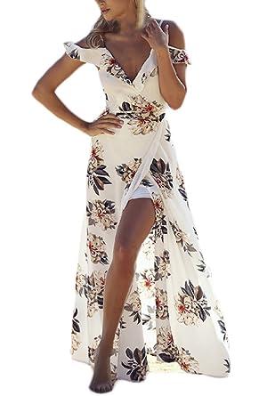 timeless design 5a096 65986 Donna Vestiti Estivi Eleganti Vintage Mare Abito Senza ...