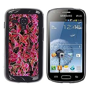 TopCaseStore / la caja del caucho duro de la cubierta de protección de la piel - Purple Flower Floral Nature - Samsung Galaxy S Duos S7562