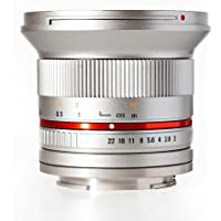 Rokinon RK12M-E-SIL 12mm F2.0 NCS CS Ultra Wide Angle Lens for Sony E-Mount NEX Cameras, Silver