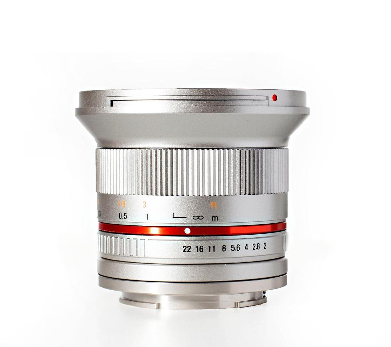 Rokinon RK12M-MFT-SIL 12mm F2.0 Ultra Wide Angle Lens for Olympus/Panasonic Micro 4/3 Cameras by Rokinon