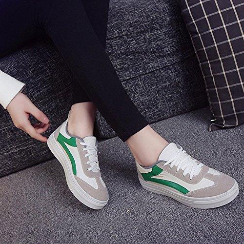 de de Shoes Mujer Los Help Zapatos Individuales Cuatro Deportivos Primavera Nan Zapatos Verde Verano Zapatos nuevos y Canvas Colores Low fdcvwfaBq