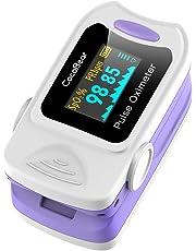 CocoBear Pulsossimetro, Saturimetro da Dito Portatile Professionale, Display OLED per Frequenza Del Polso(PR) e La Saturazione di Ossigeno(Spo2) Misure, Approvato da CE e FDA (Bianco)