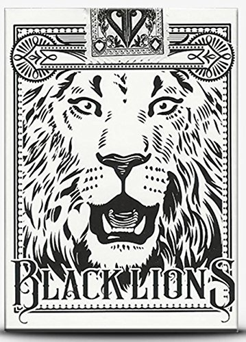 Black Lions Seconds Playing Cards (1-Brick of 12 Decks) by David Blane (New Sealed, in David Blane Black Lions Box) by Supernaturalgames (Image #5)