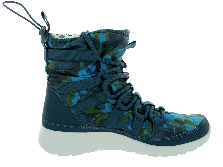 Amazon.com | NIKE Women's Roshe One 1 Hi Print Squadron Blue/Brigade  Blue-Green 807425-400 Shoe 5.5 M US | Boots