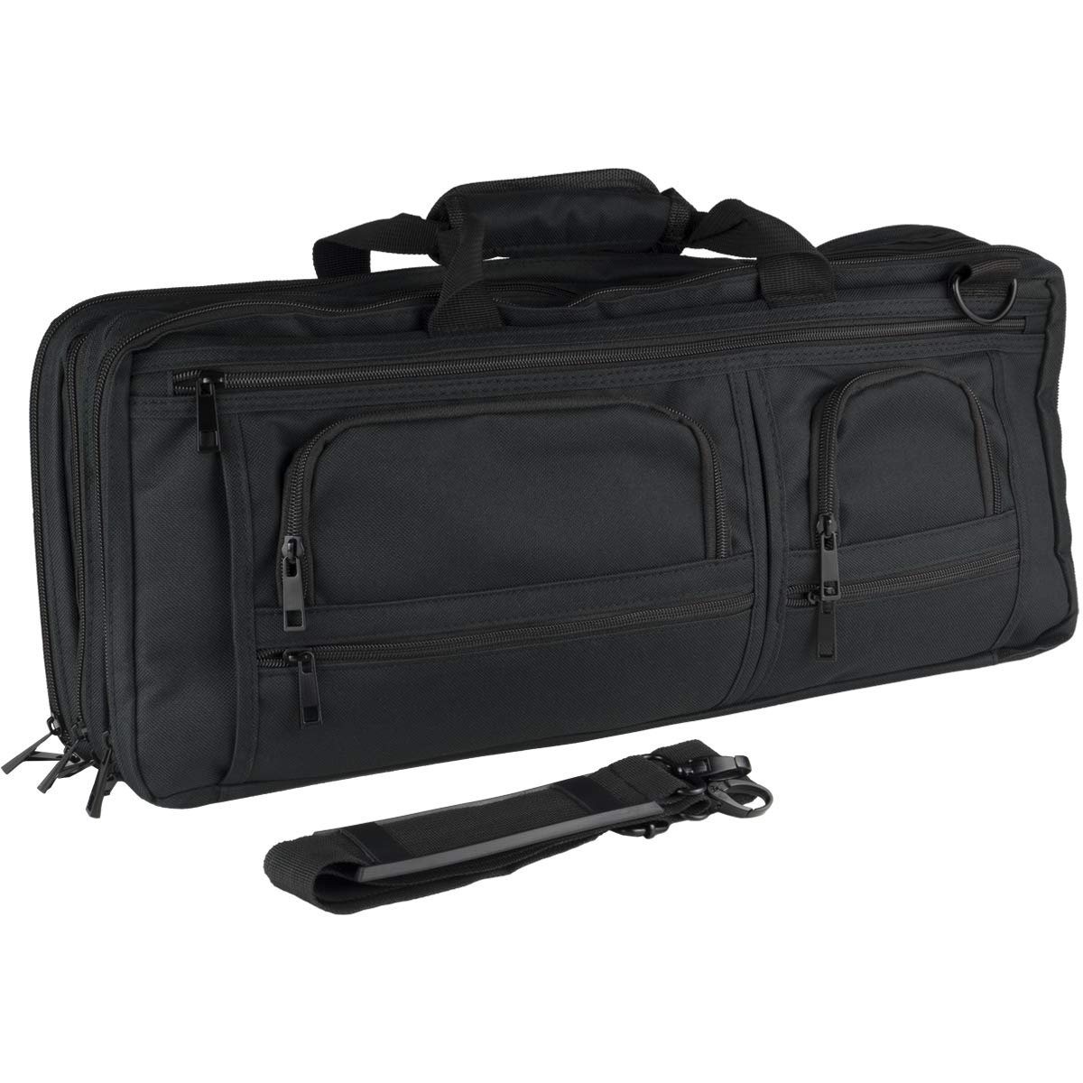 Chef Knife Case Bag | 3 Compartments & 20 Slots for Knives & Kitchen Tools | 10 Zip Pockets for Tablet, Notebooks & Utensils | Executive Chefs & Culinary Students Gift (Black)